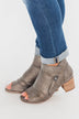 Very G Wonderlust Peep Toe Booties- Grey