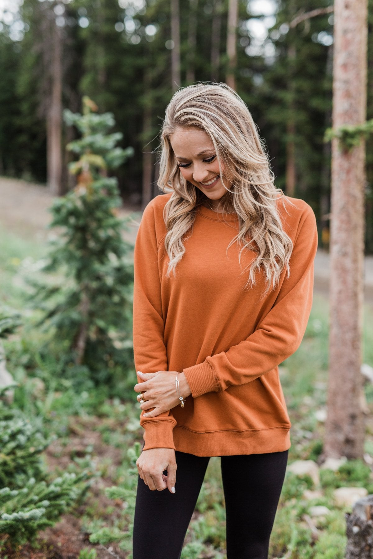 Keeping Up With Cute Wrap Blouse- Rust