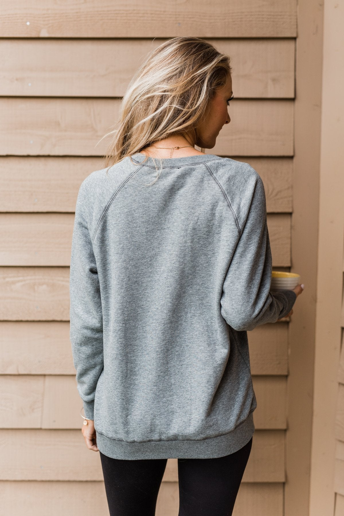 Pulse Basics Crew Neck Pullover- Dark Gray