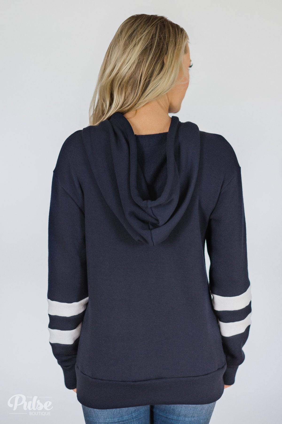 Feels Like Home Soft Hoodie- Navy