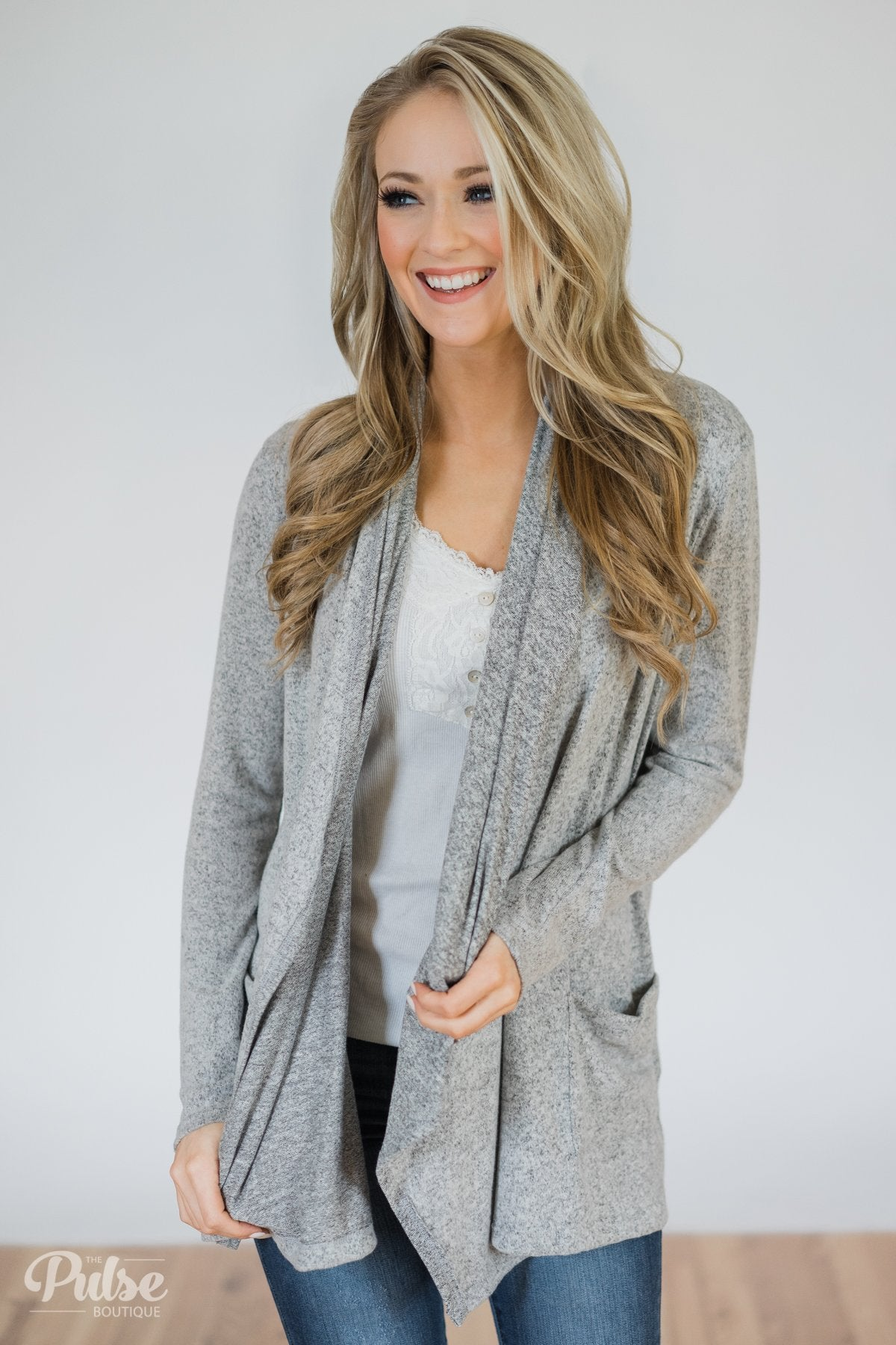 hot-selling shop for best search for best First Choice Layering Cardigan- Heather Grey – The Pulse ...