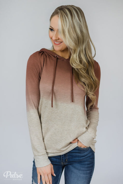 Russet & Oatmeal Ombre Hoodie