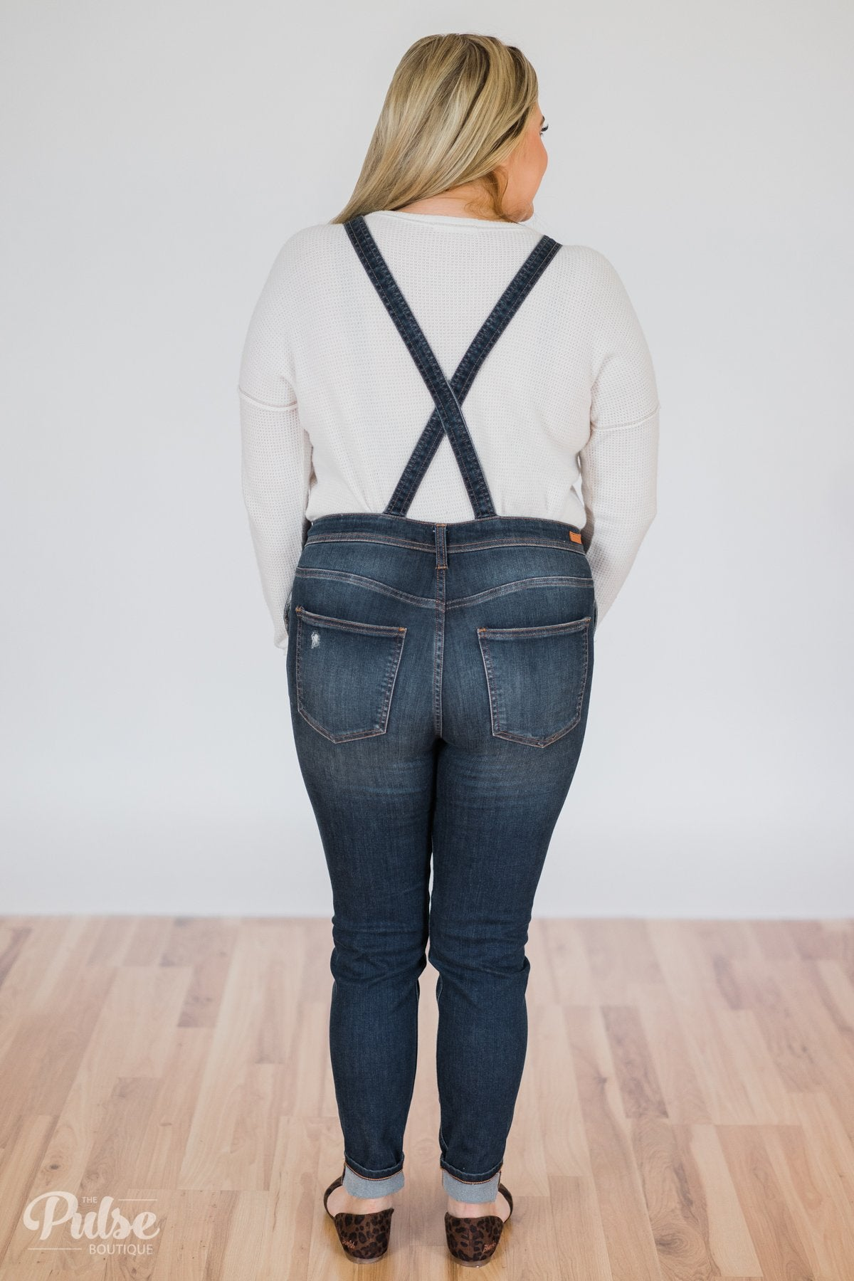Sneak Peek- Kate Dark Wash Overalls