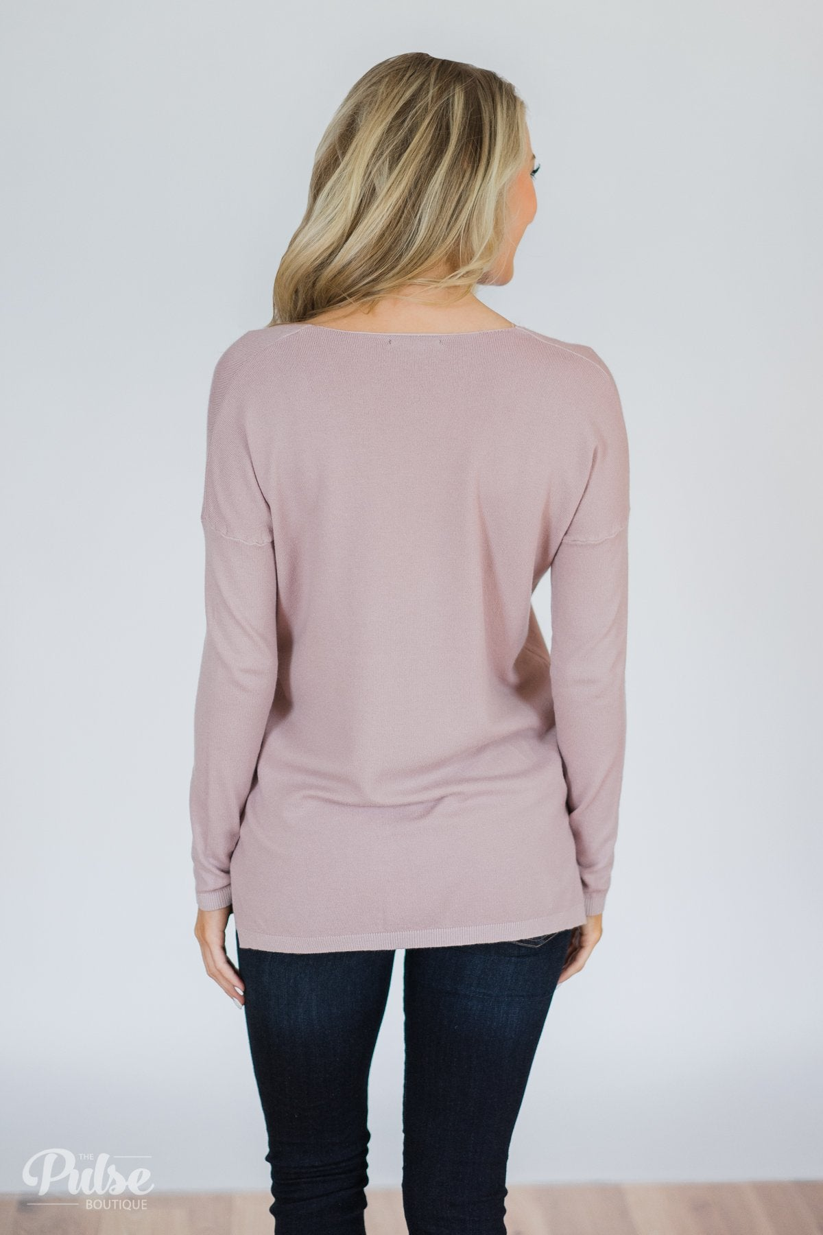 Truly Yours Sweater- Blush