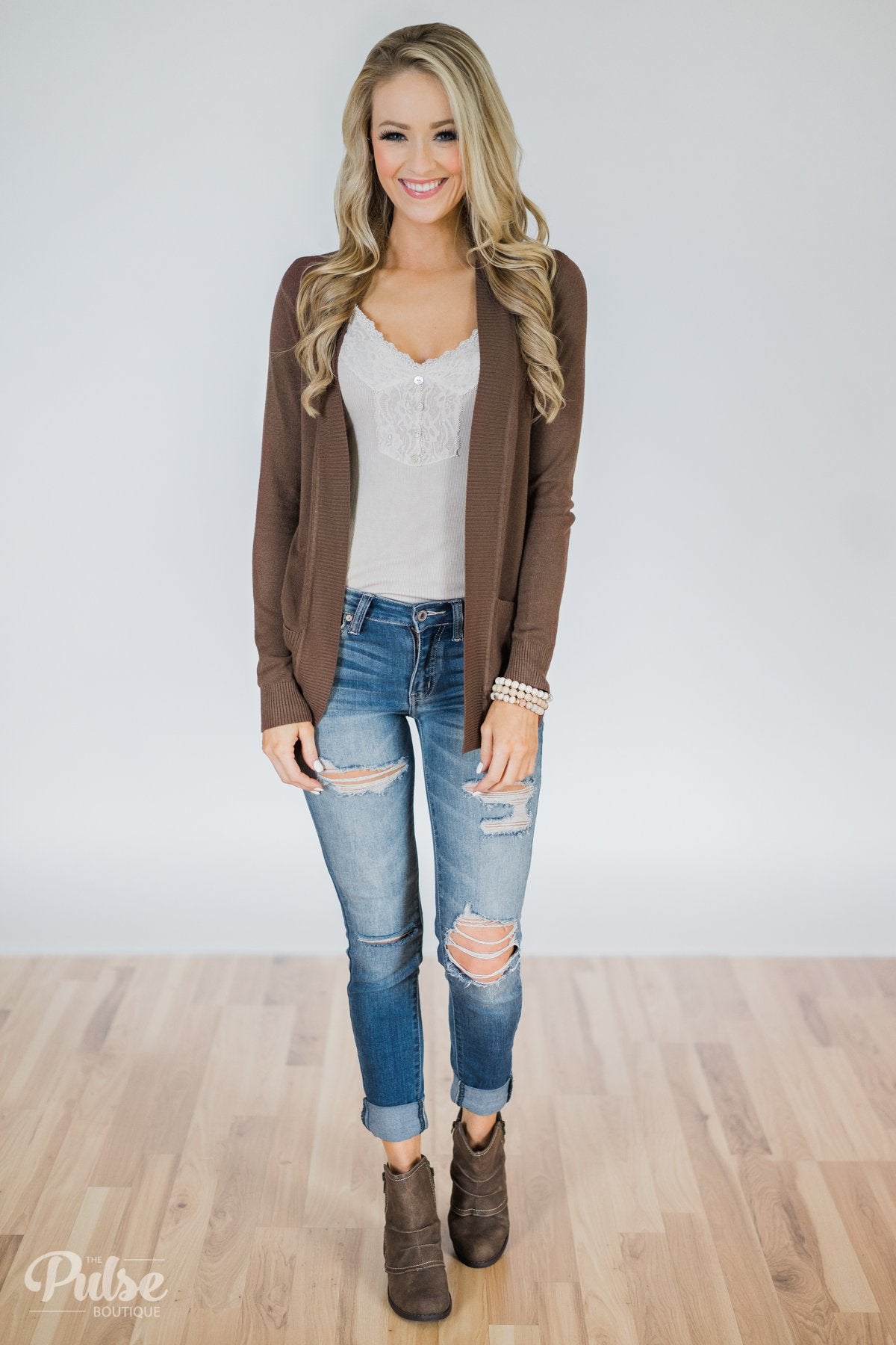 Essential Cardigan- Brown