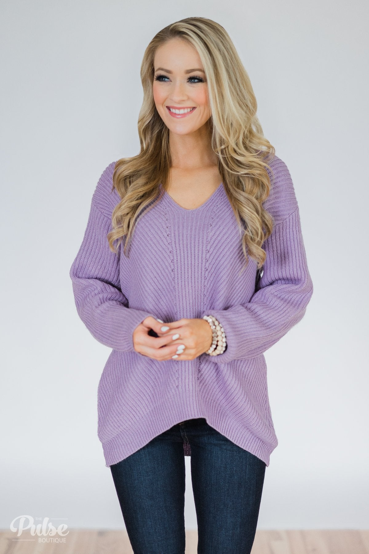 Lavender Fields Knitted Sweater