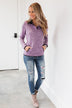 Pulse Exclusive Quarter Button Pullover- Heathered Purple