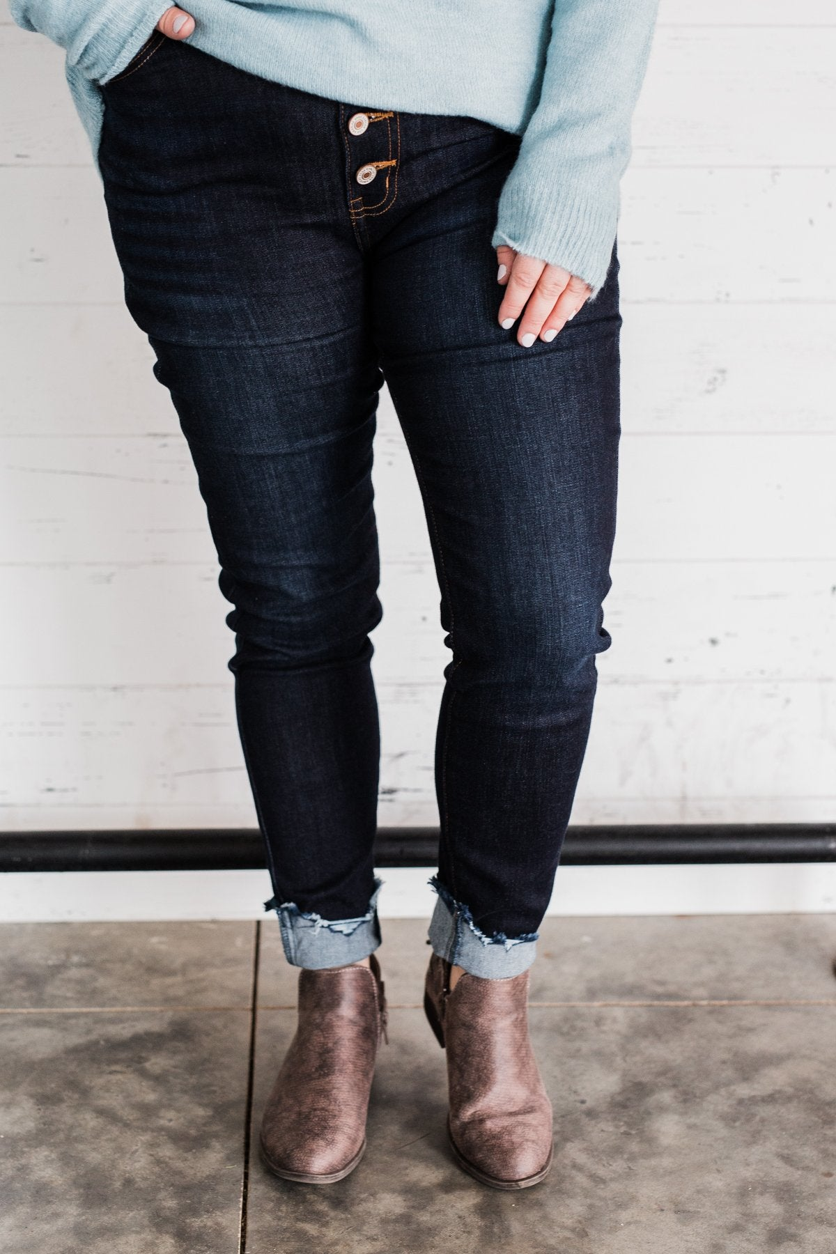 KanCan Button Fly Jeans- Reagan Wash