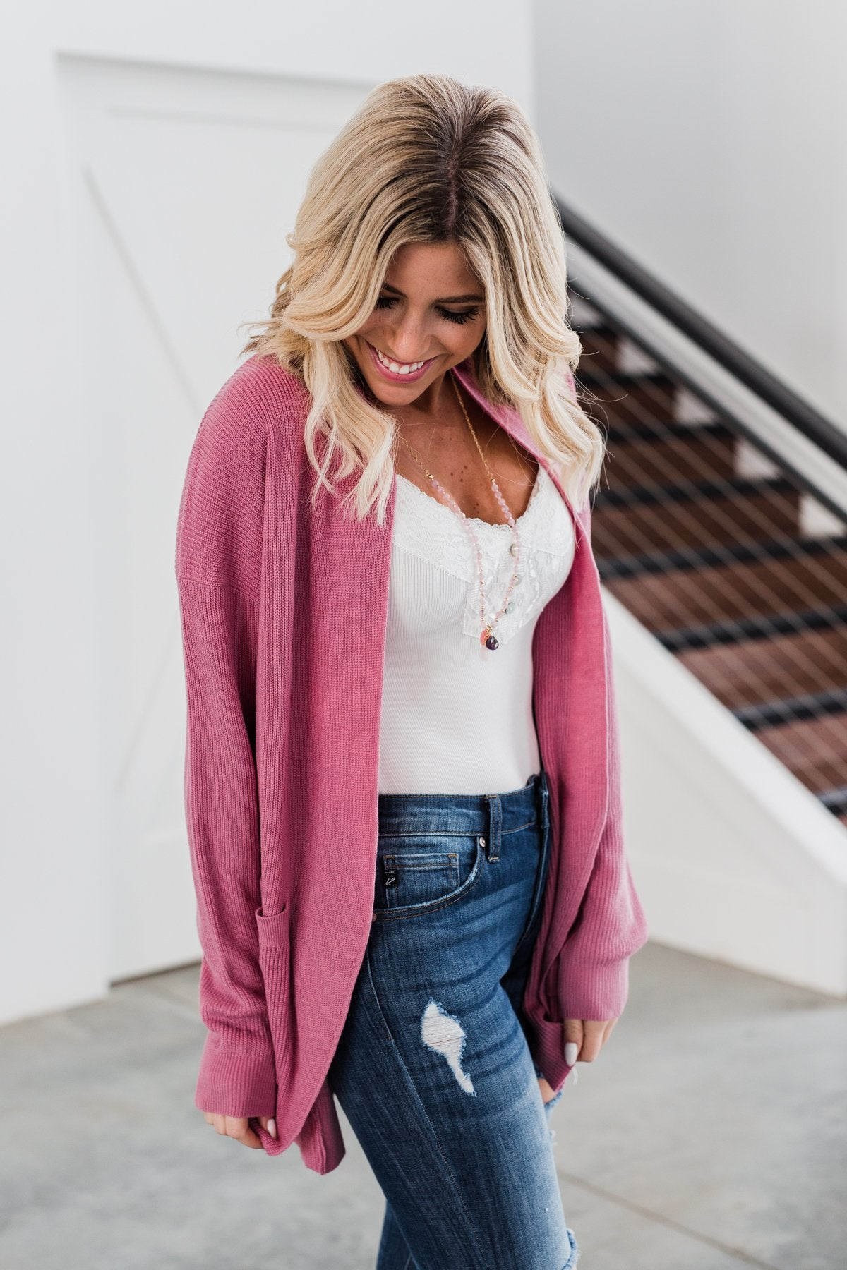 Share The Love Knit Cardigan- Orchid