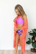 High Waisted Floral Swimsuit Bottoms- Purple & Orange