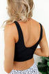 Front Knot Swimsuit Tankini- Solid Black