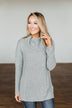 Wishing You Well Knit Turtleneck Sweater- Grey