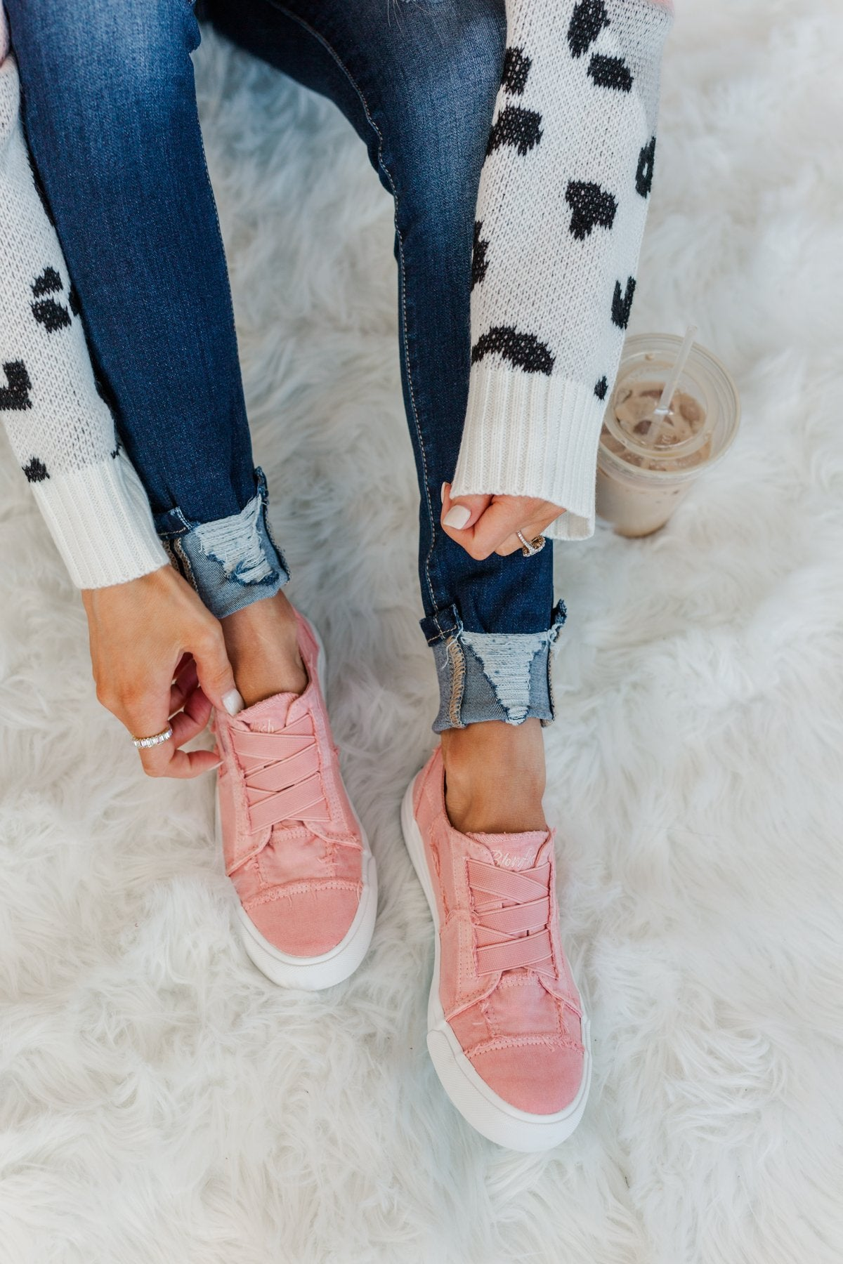 Blowfish Marley Sneakers- Dusty Pink