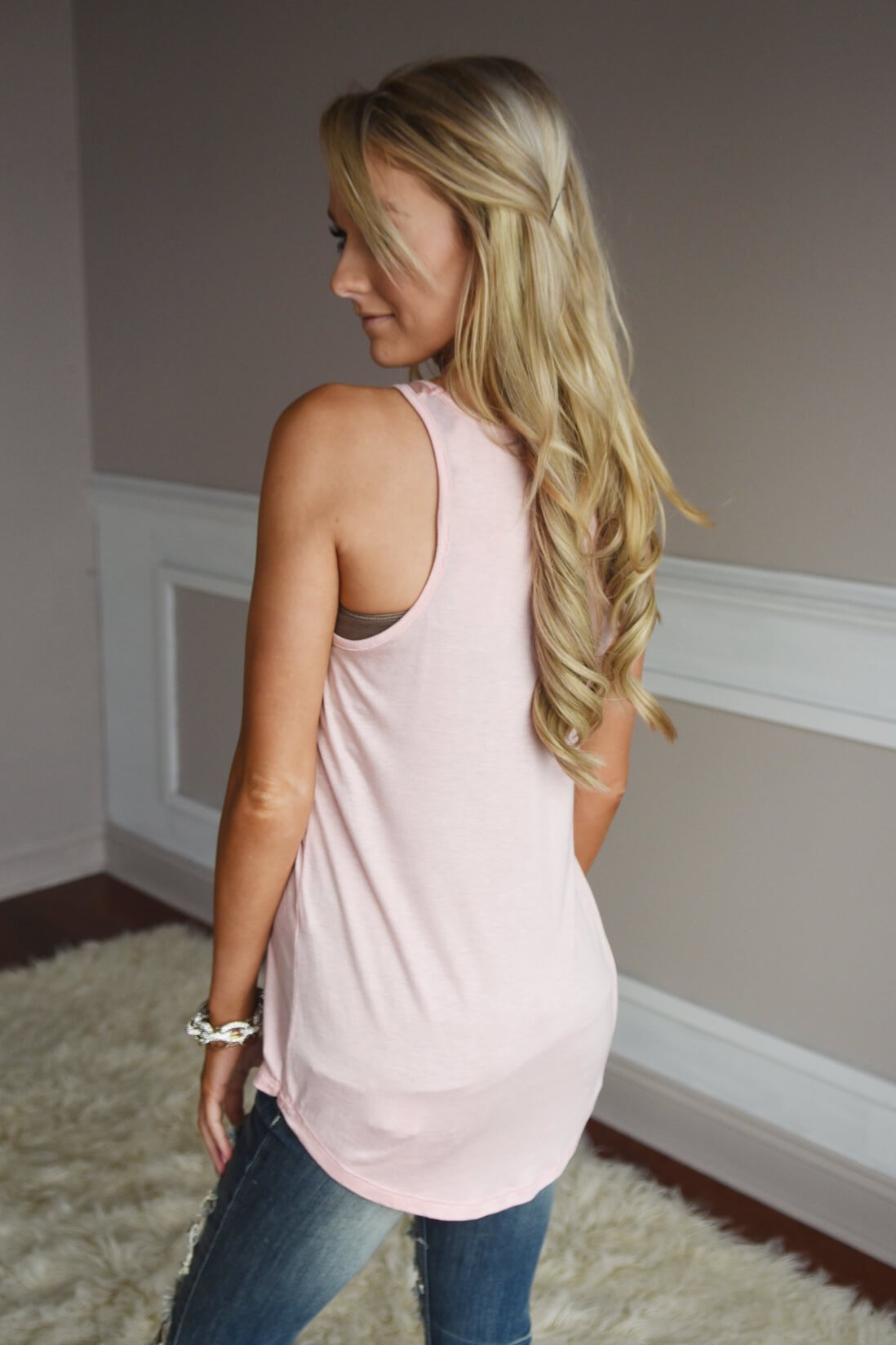 Light Pink Antler Tank