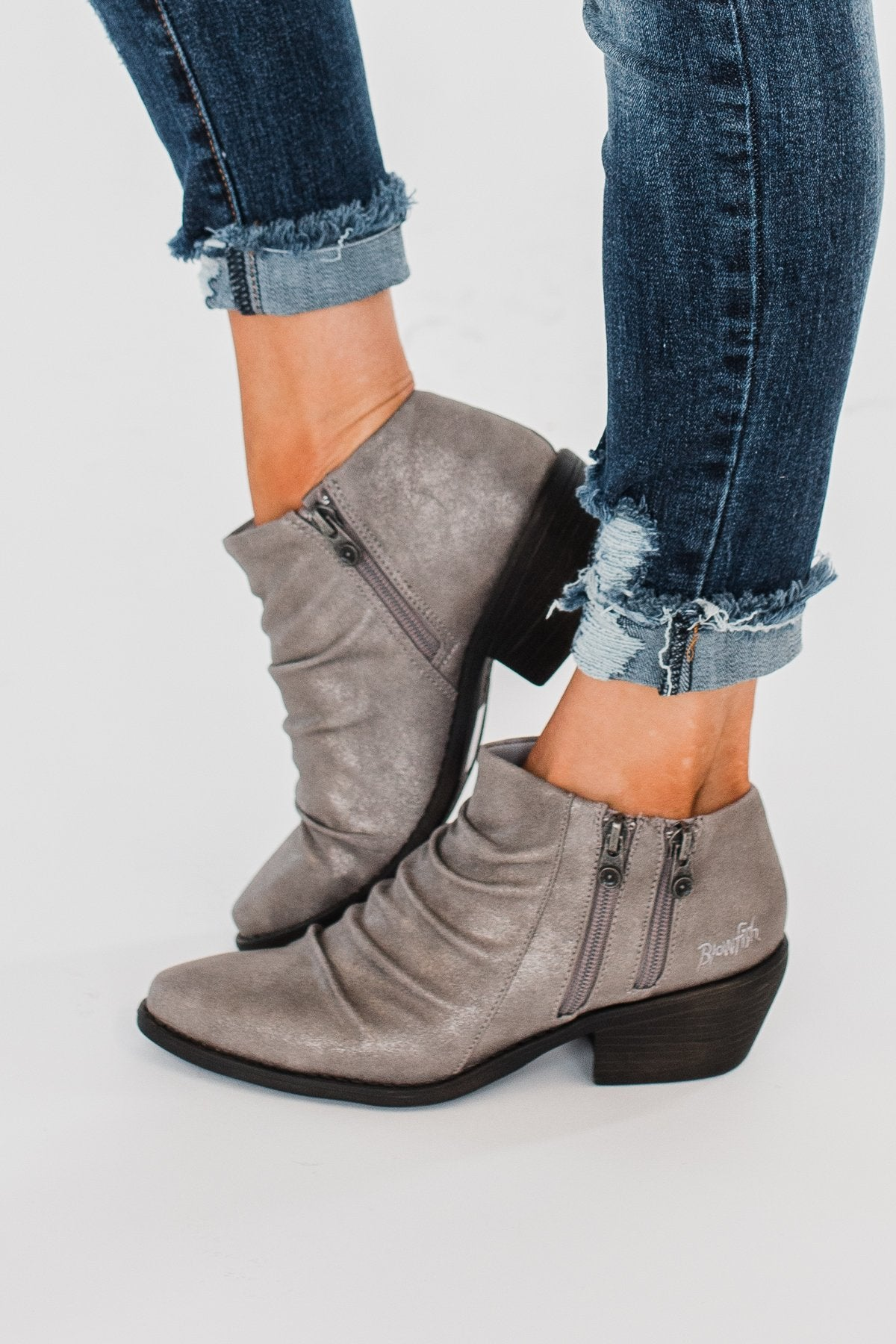 Blowfish Wander Booties- Moonlight Metallic