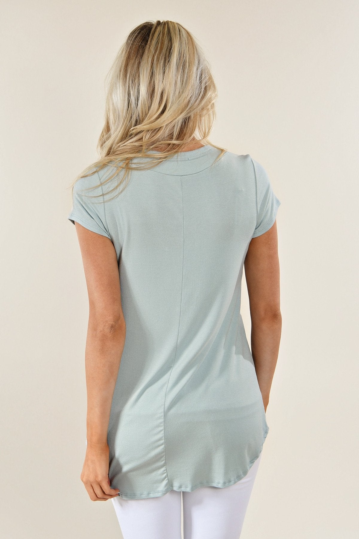 The Promise Criss Cross Top ~ Sea Blue