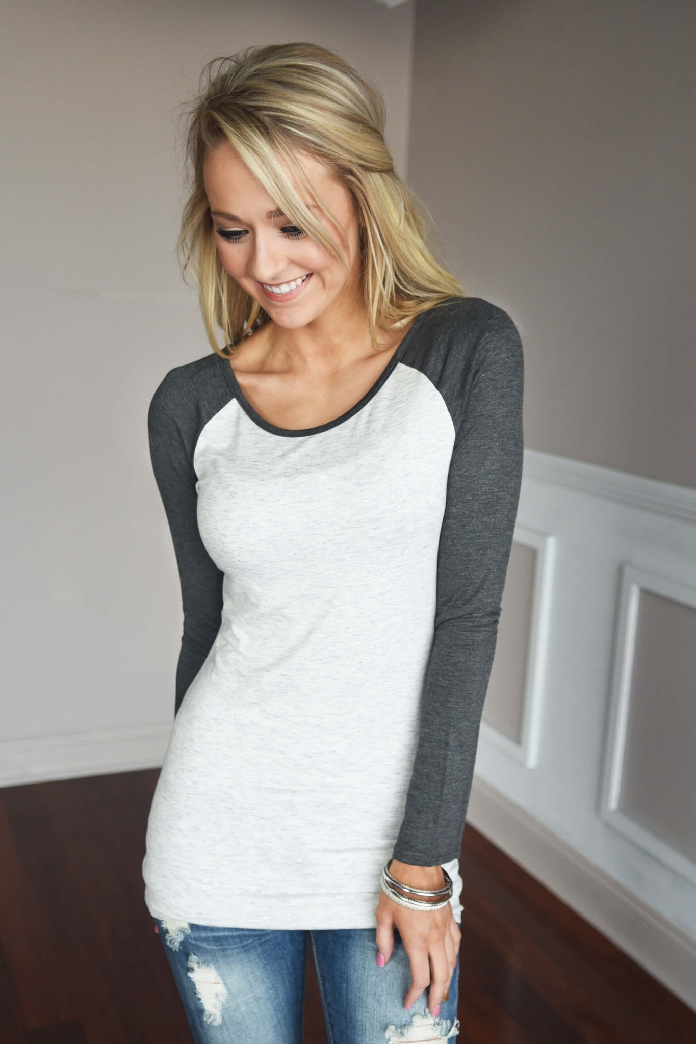 Essential Charcoal Sleeve Top