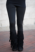 Fleece Leggings ~ Black