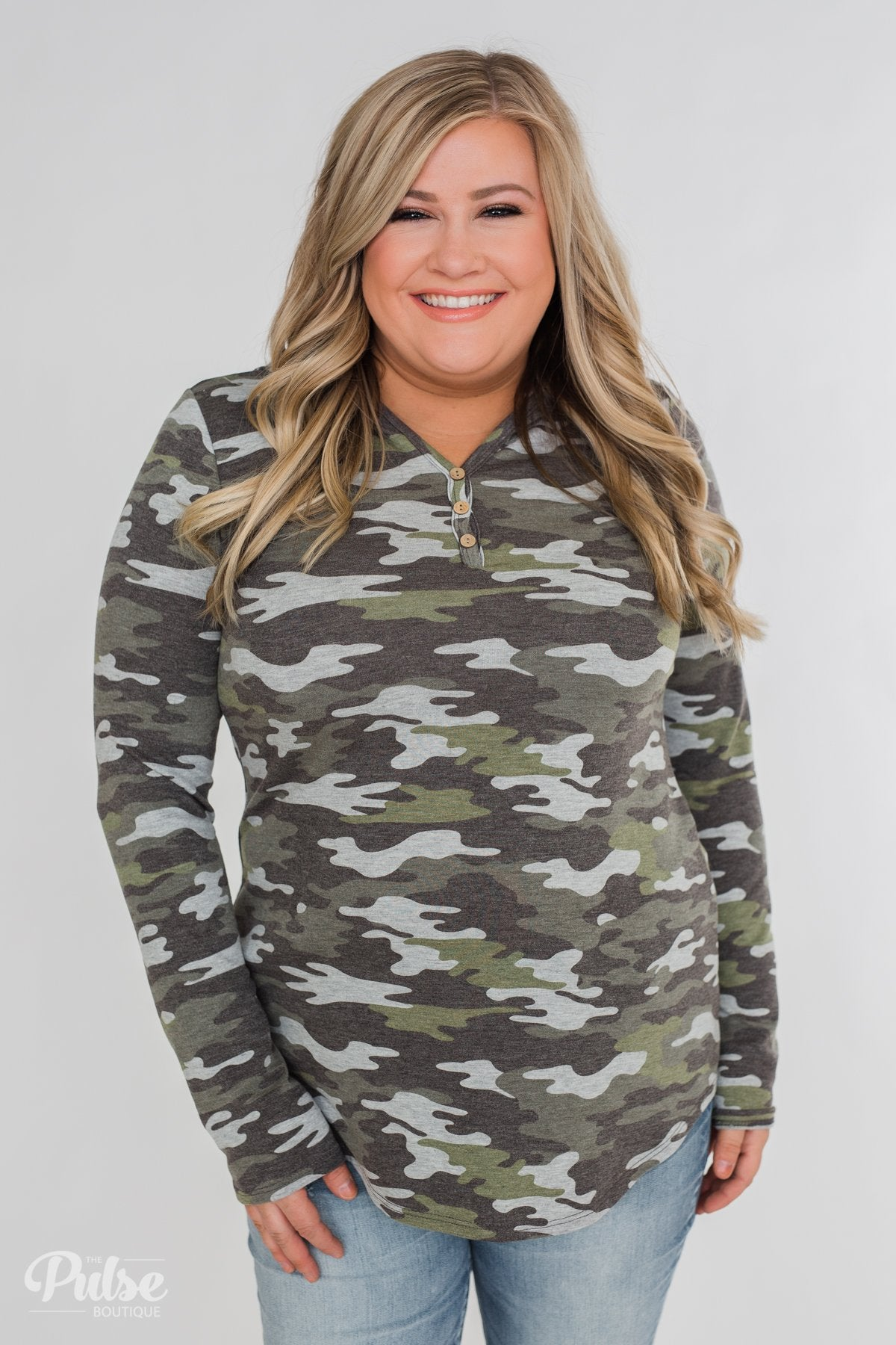 Hooded Pullover - Camo