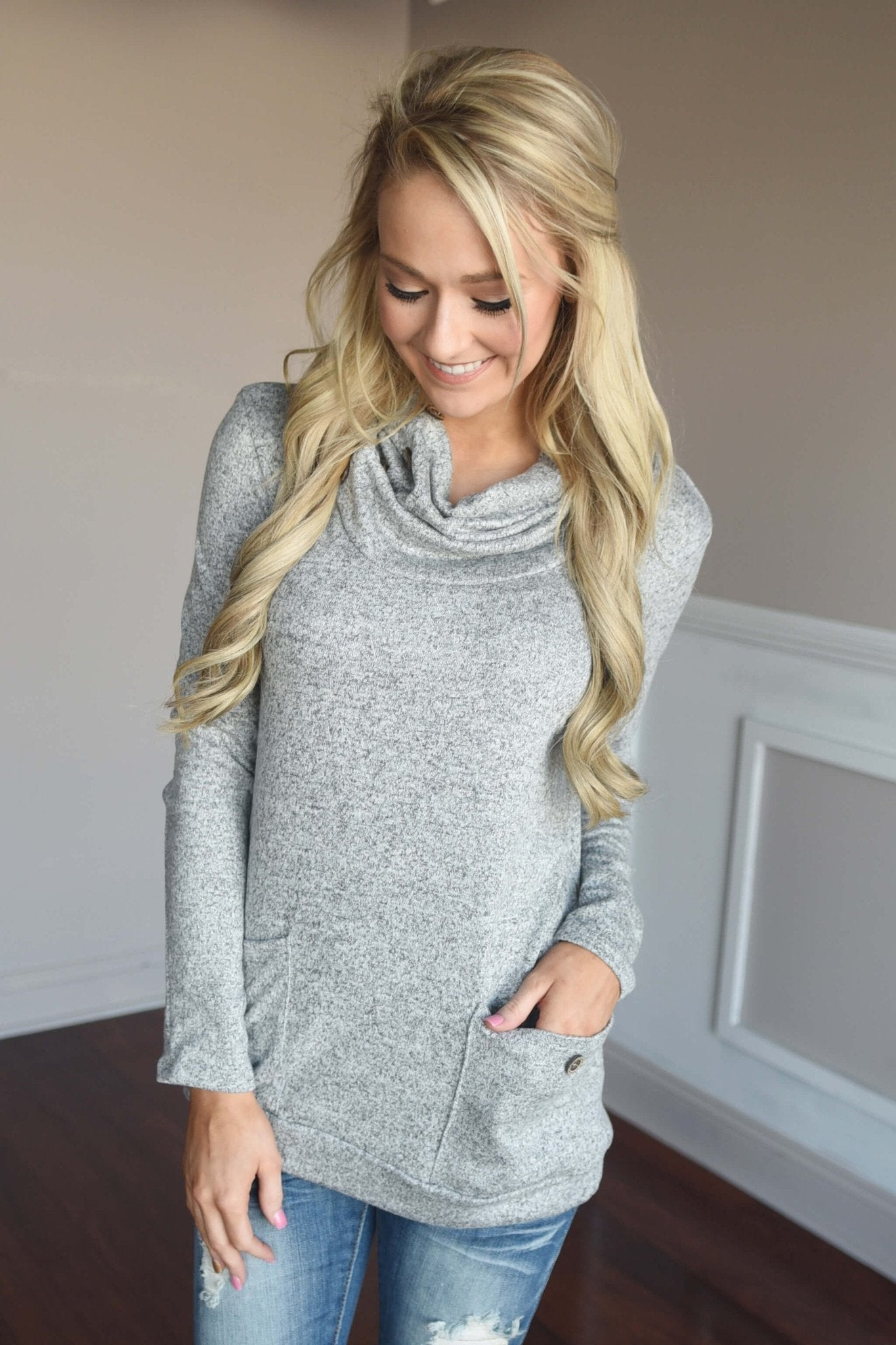Button Sweater - Grey