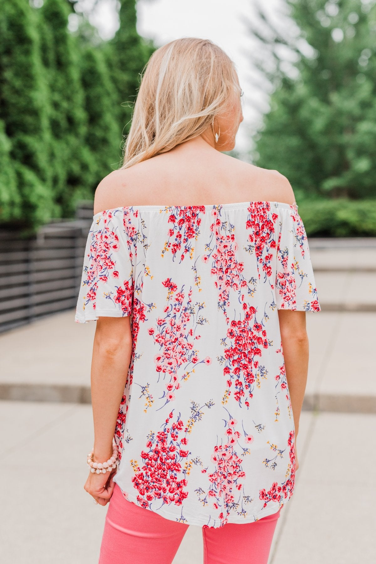 When I'm With You Off the Shoulder Top- Ivory