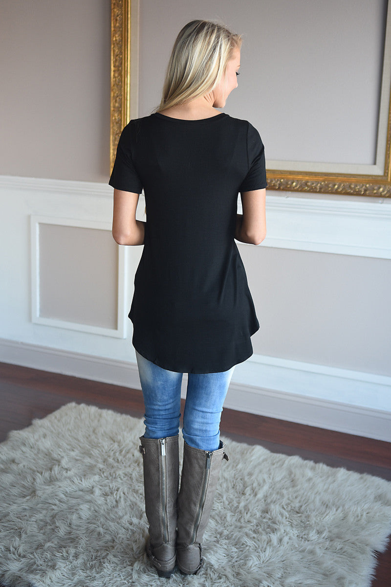 Essential Black Top ~ Short Sleeve