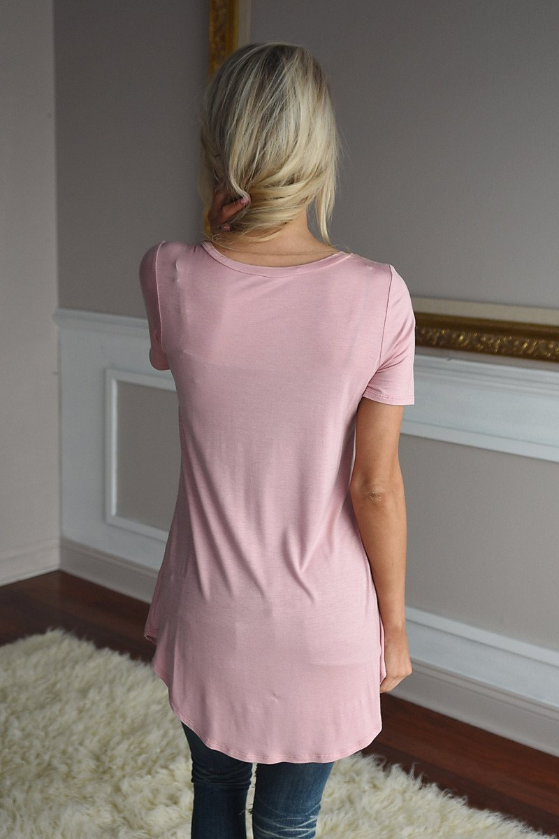 Essential Peach Top ~ Short Sleeve
