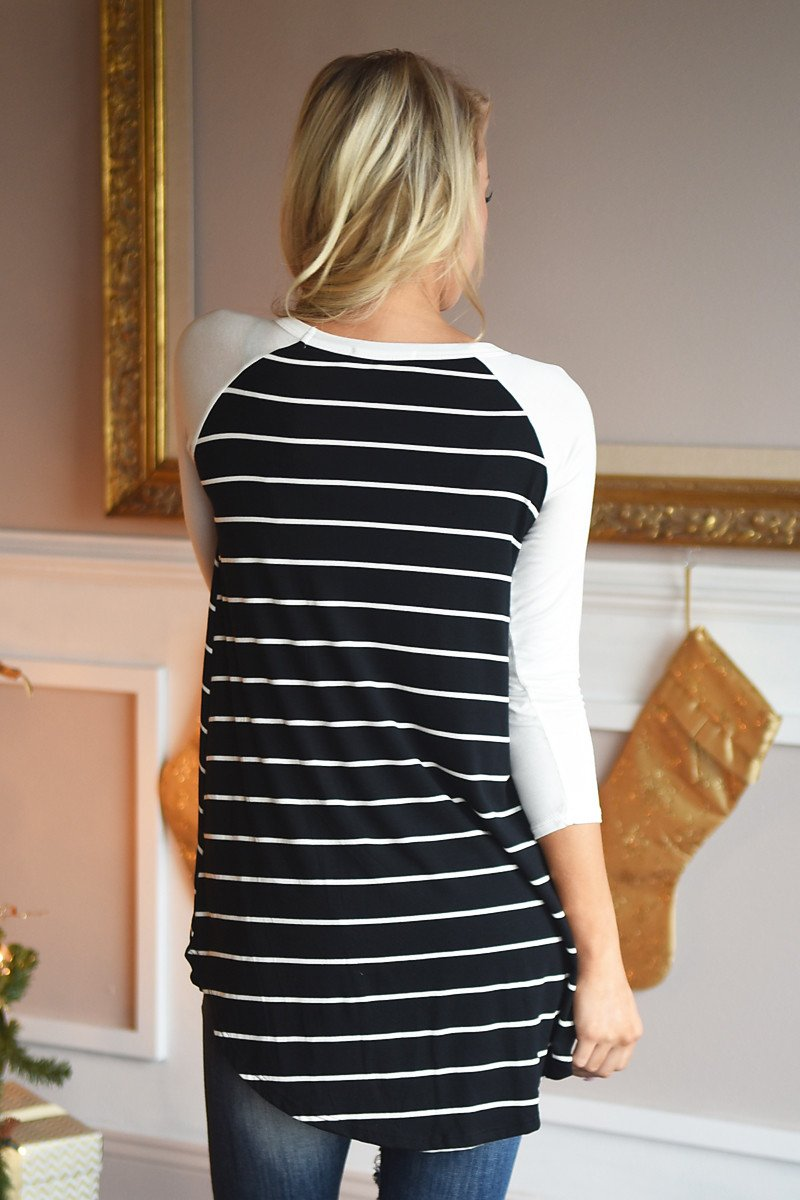 Essential Stripe Top ~ Black