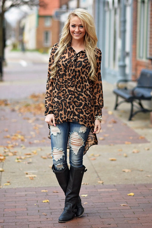 Eye Of The Tiger Tunic Top