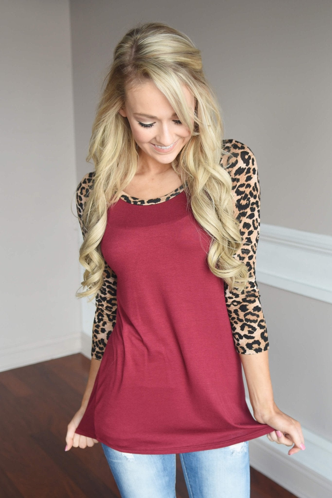 Fierce & Fabulous Leopard Top Red