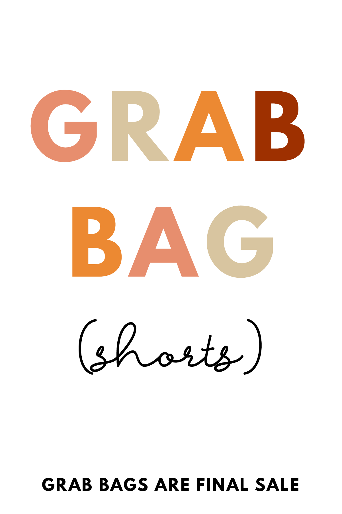 Grab Bag Colored & Denim Shorts- 3 Items