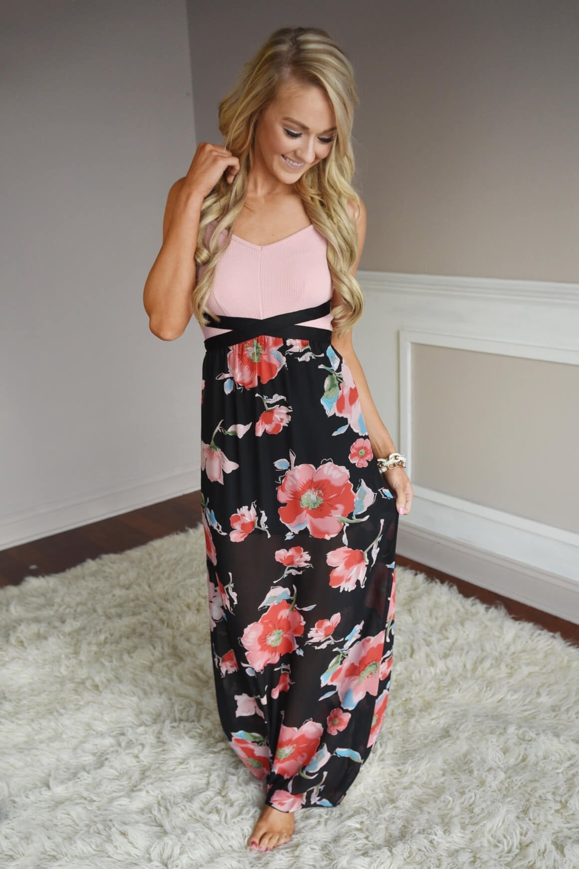Sweet as Hibiscus Maxi