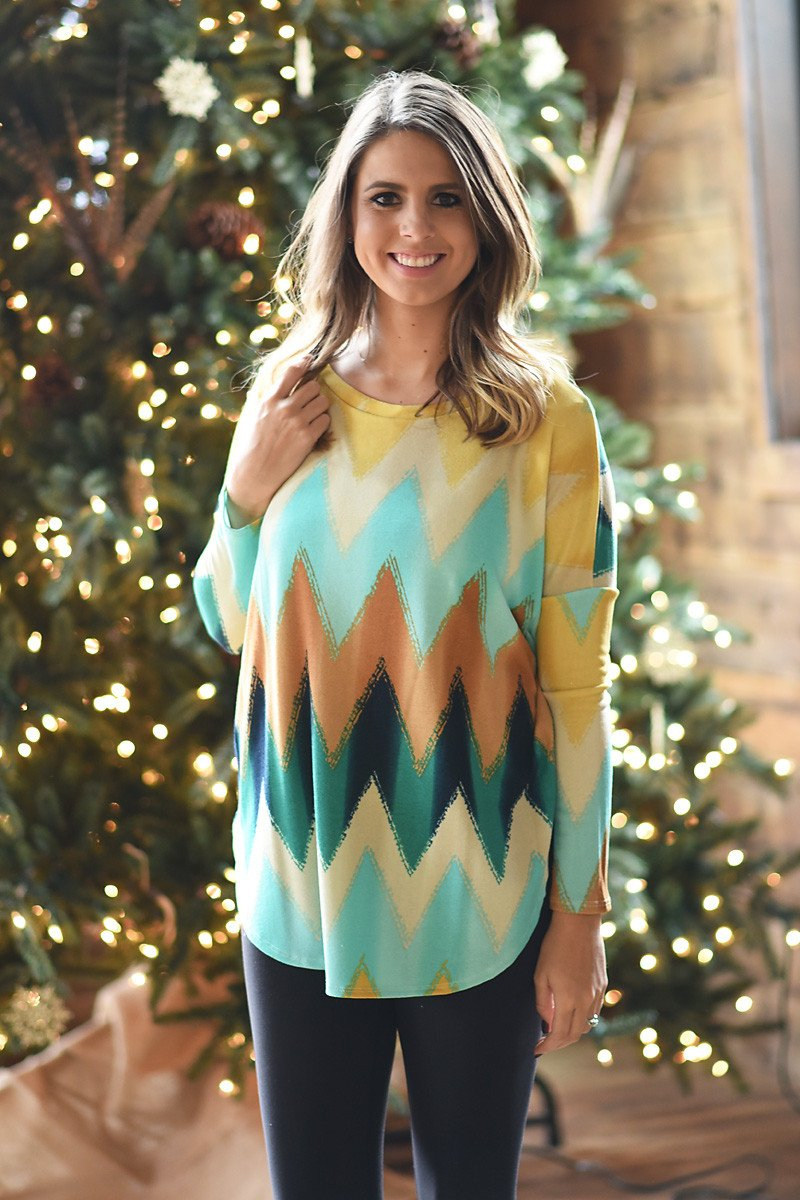 I've Got Sunshine Chevron Top