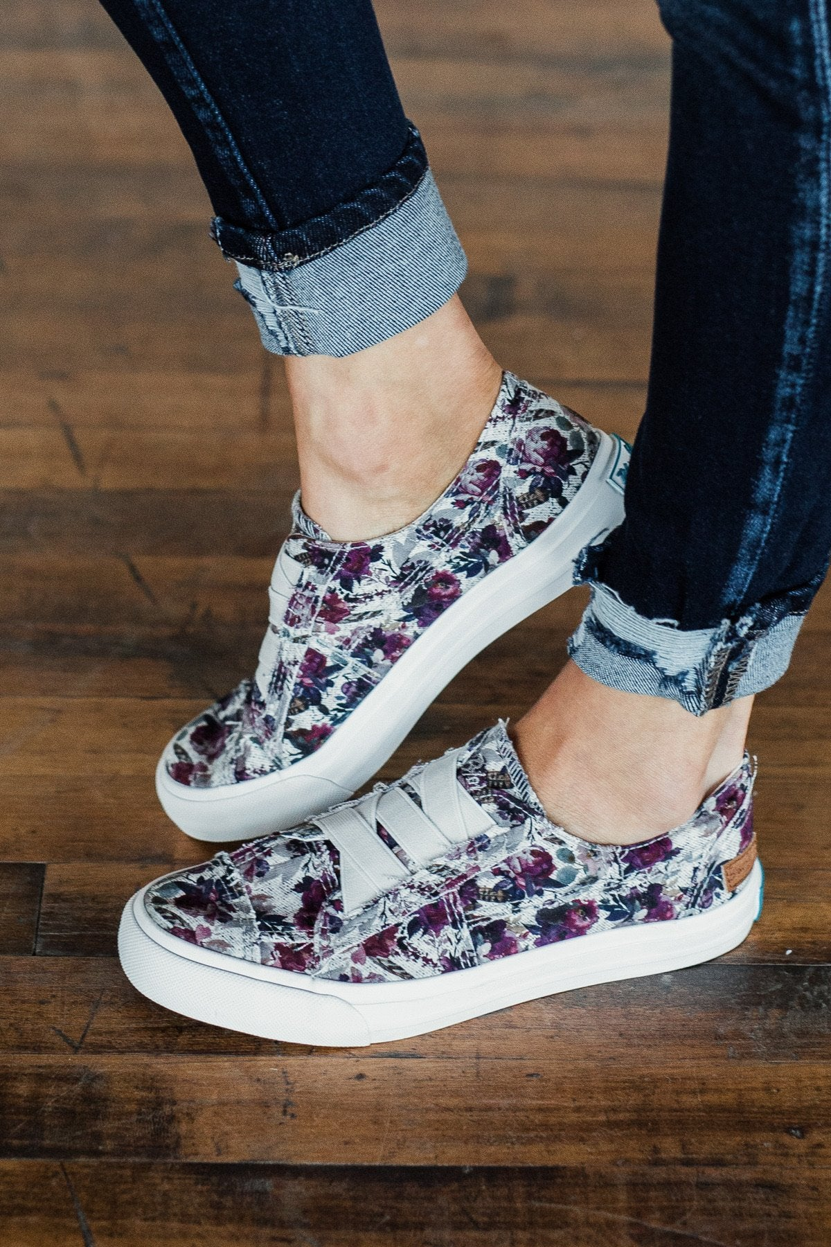 Blowfish Marley Sneakers- Dark Rose Sweet Grey