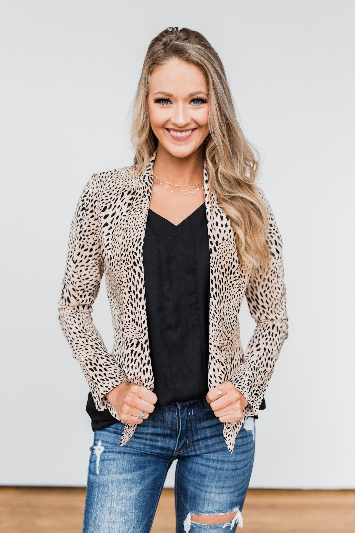 Fierce Feelings Animal Print Blazer- Neutral