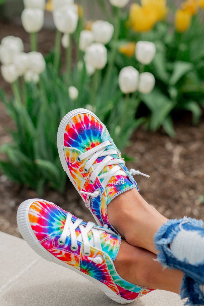 Blowfish Fruit Sneakers- Rainbow Tie Dye