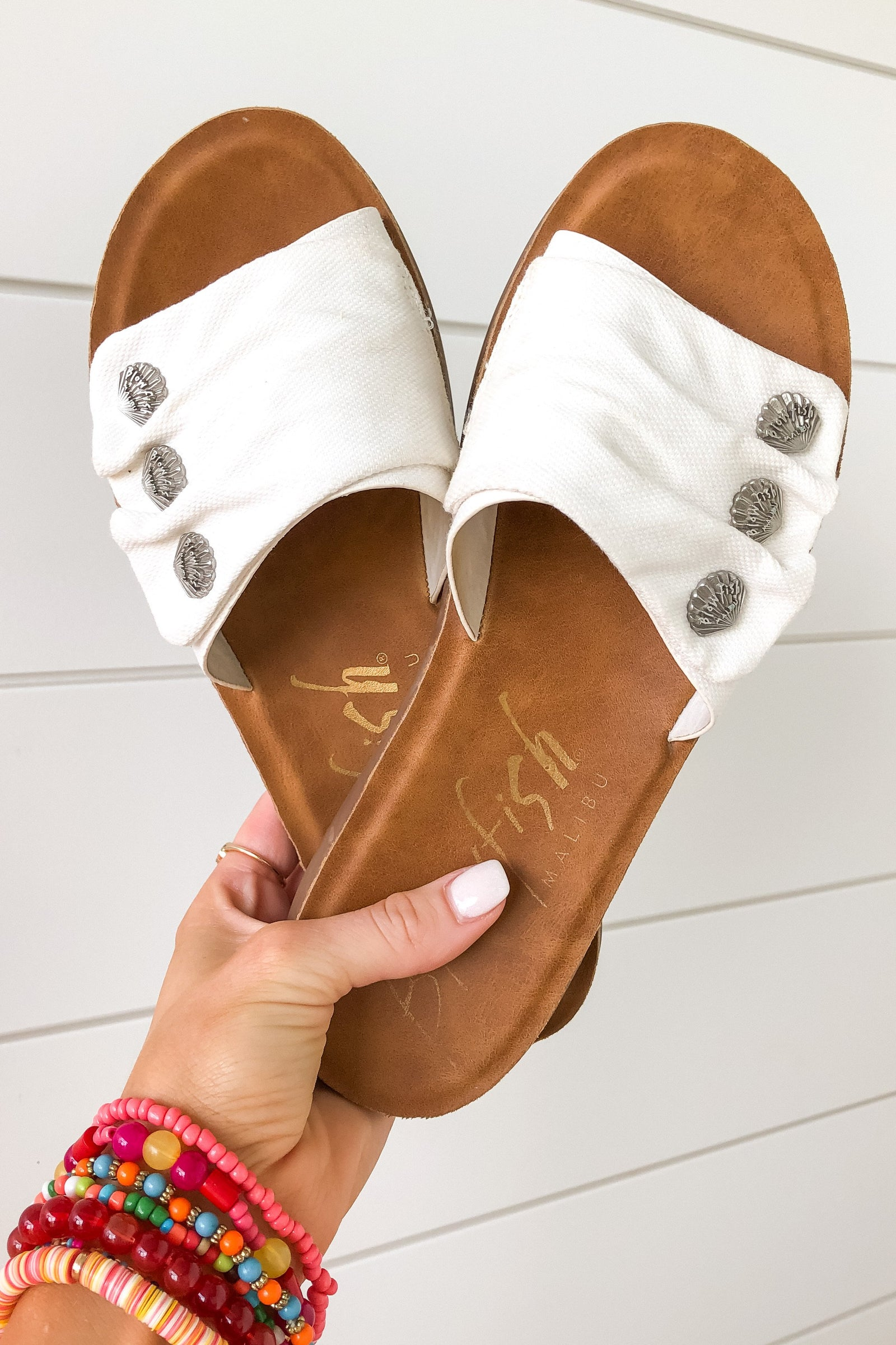 Blowfish Sunrise Sandals- White Boogie Board