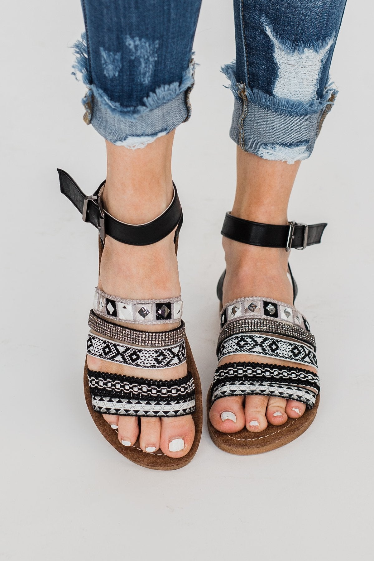 Very G Gypsy Girl Sandals- Black