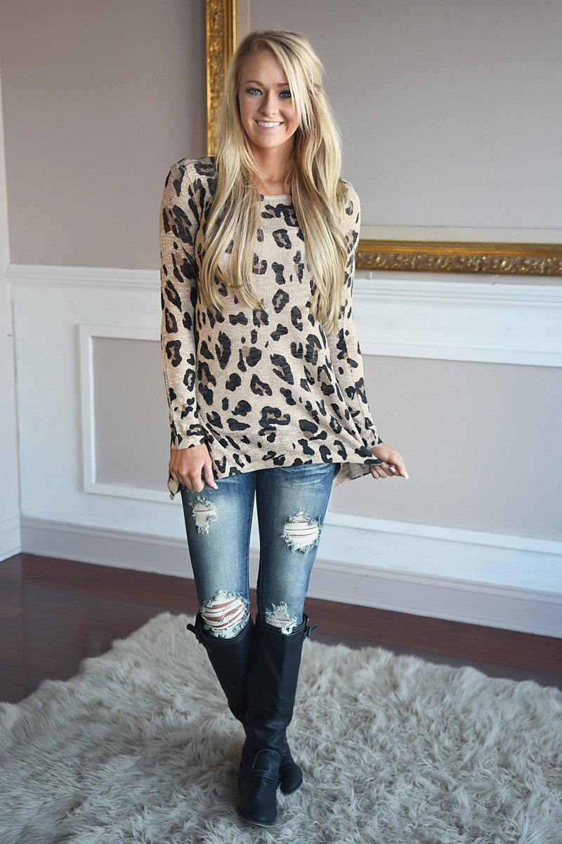 Leopard In My Heart Top