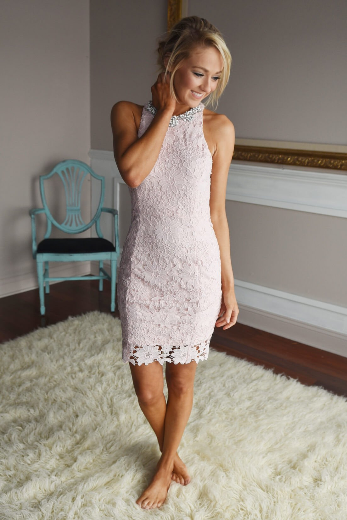 Irresistible in Lace ~ Light Pink