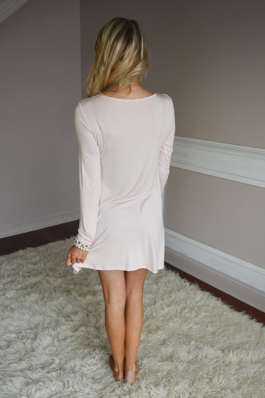 LOVE Tunic Top ~ Light Pink