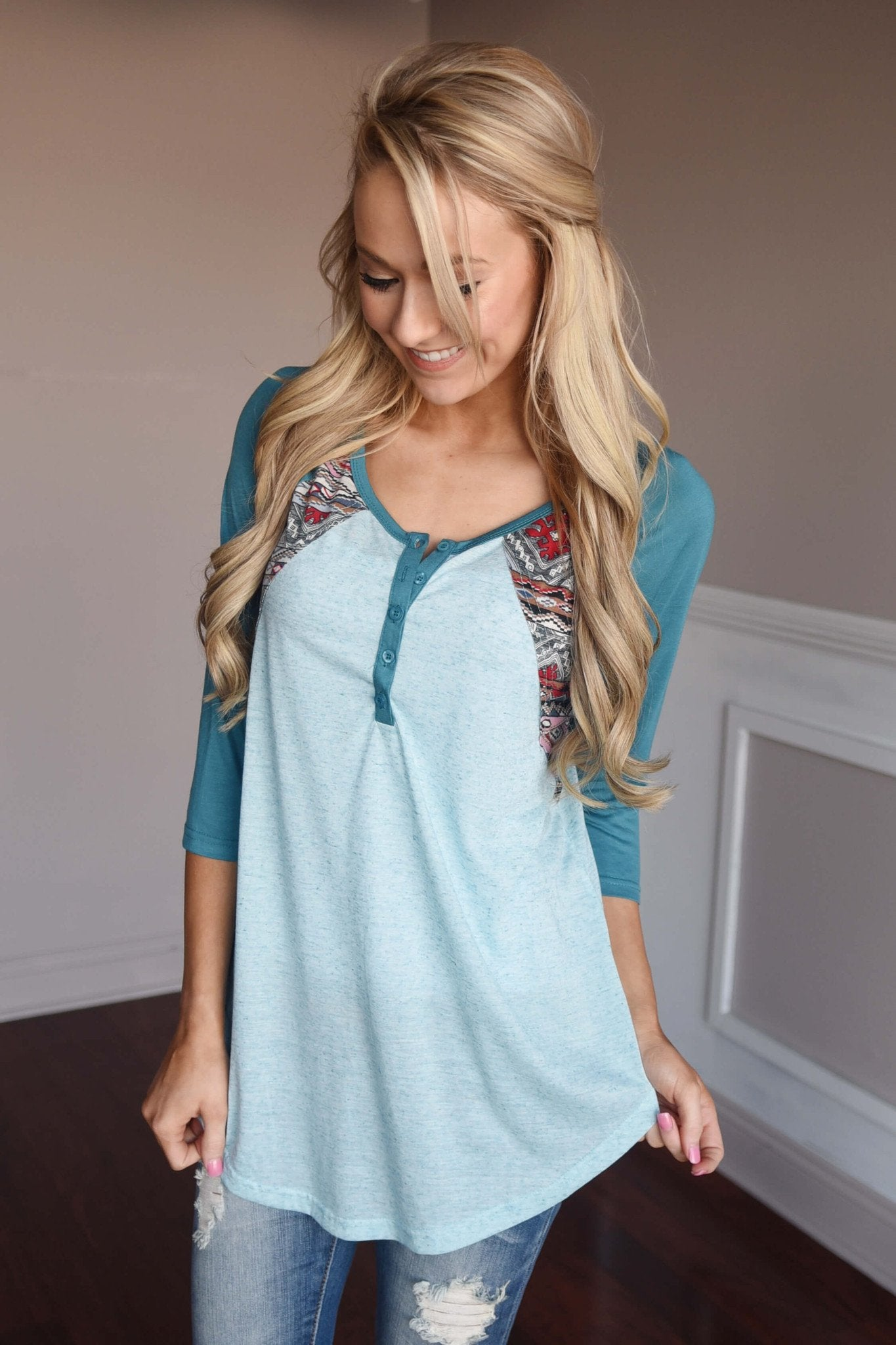 My Lucky Day Top ~ Blue