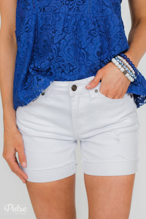 Kan Can Eloise Shorts- White