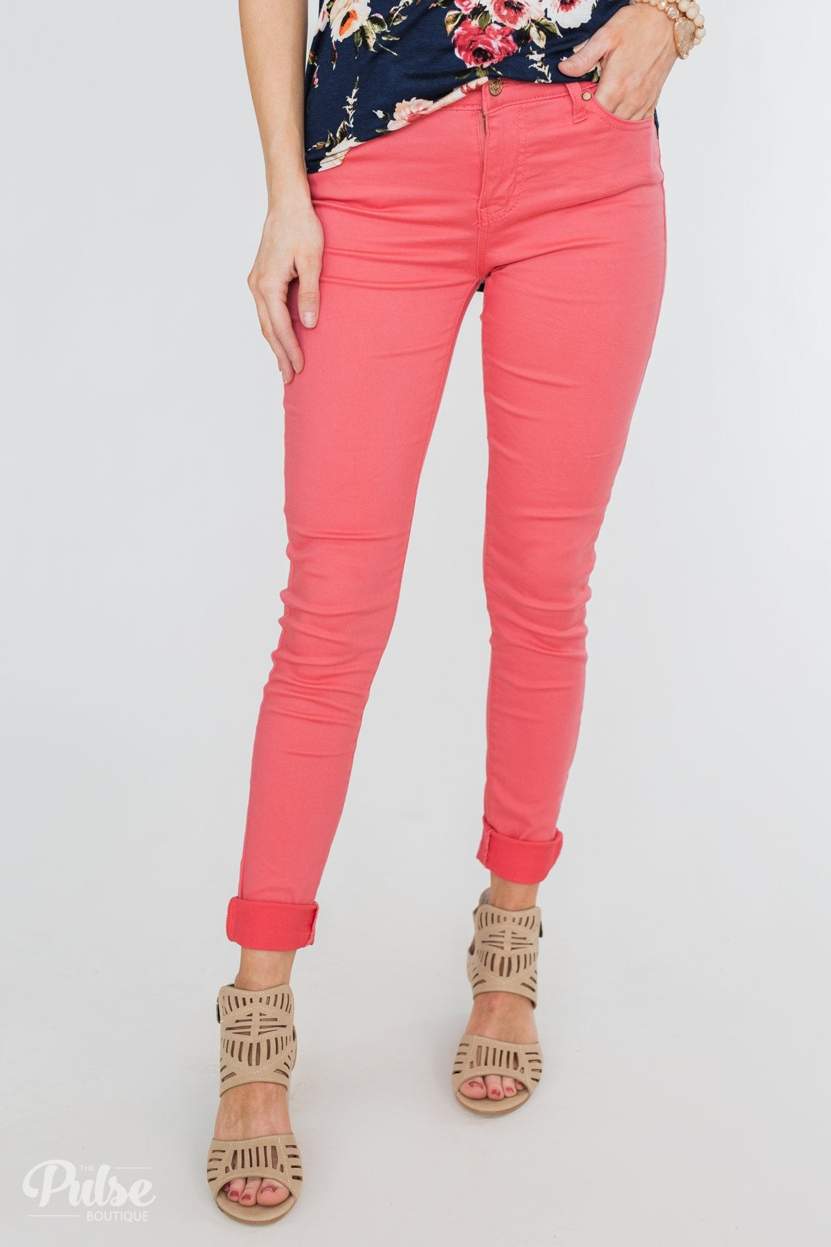 Celebrity Pink Belt Jeans- Prudence Wash