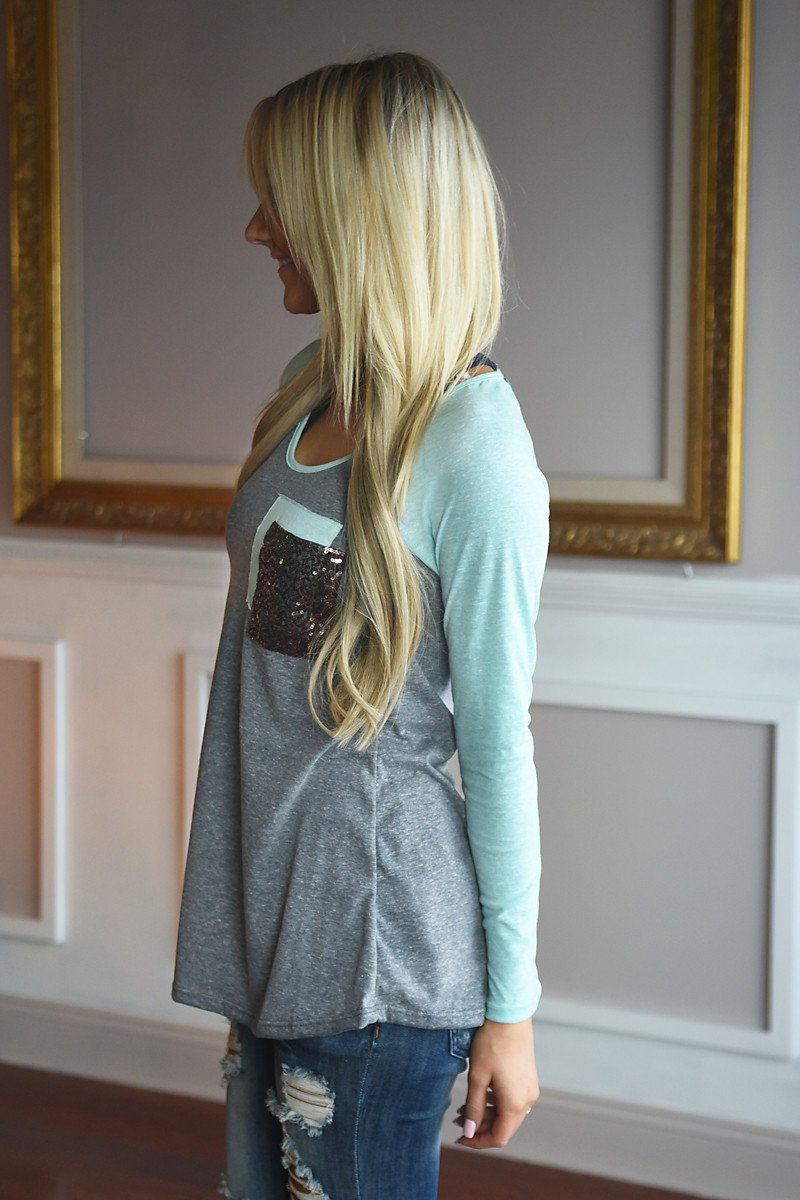 Mint Glam Top