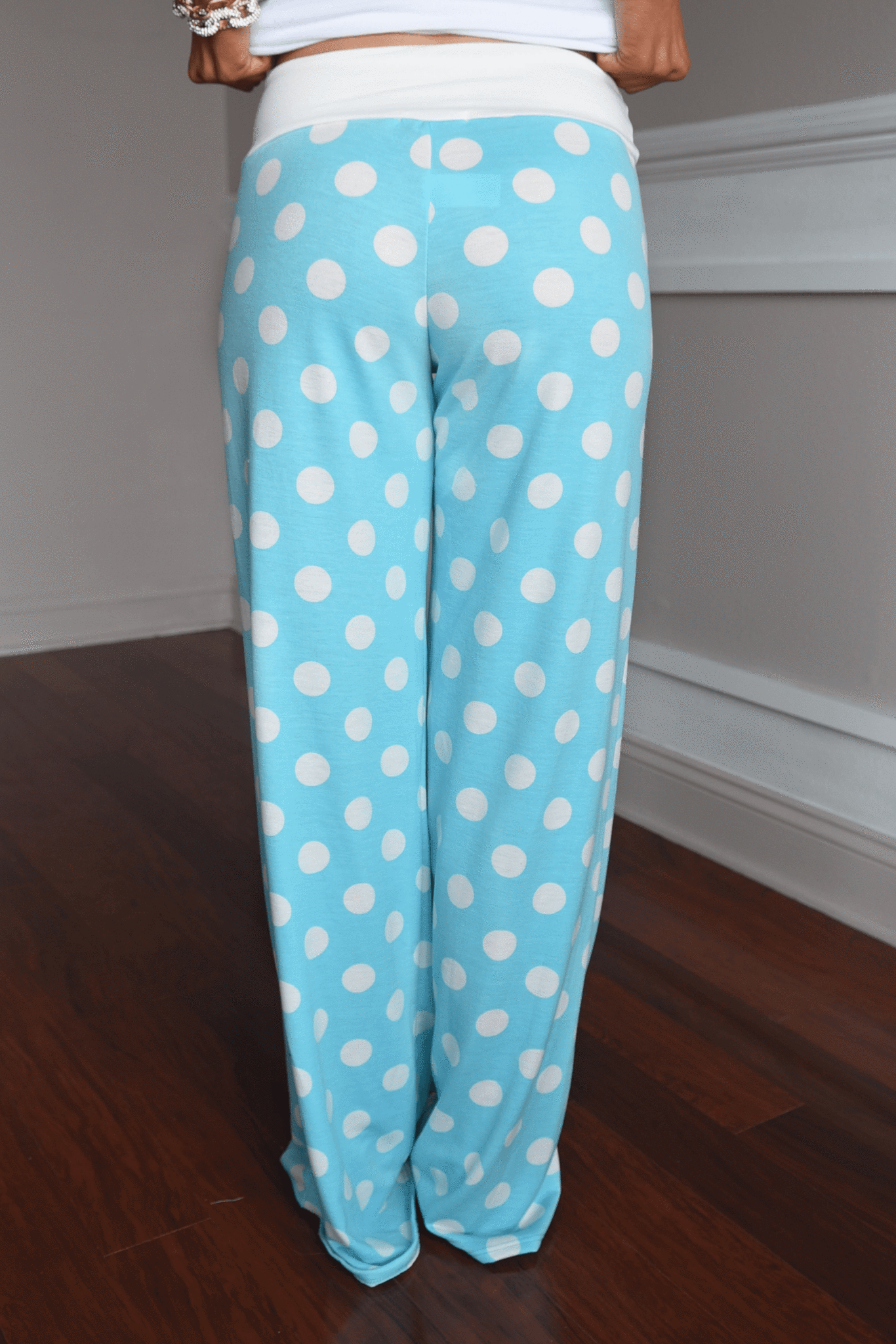 Polka Dot Lounge Pants ~ Light Blue