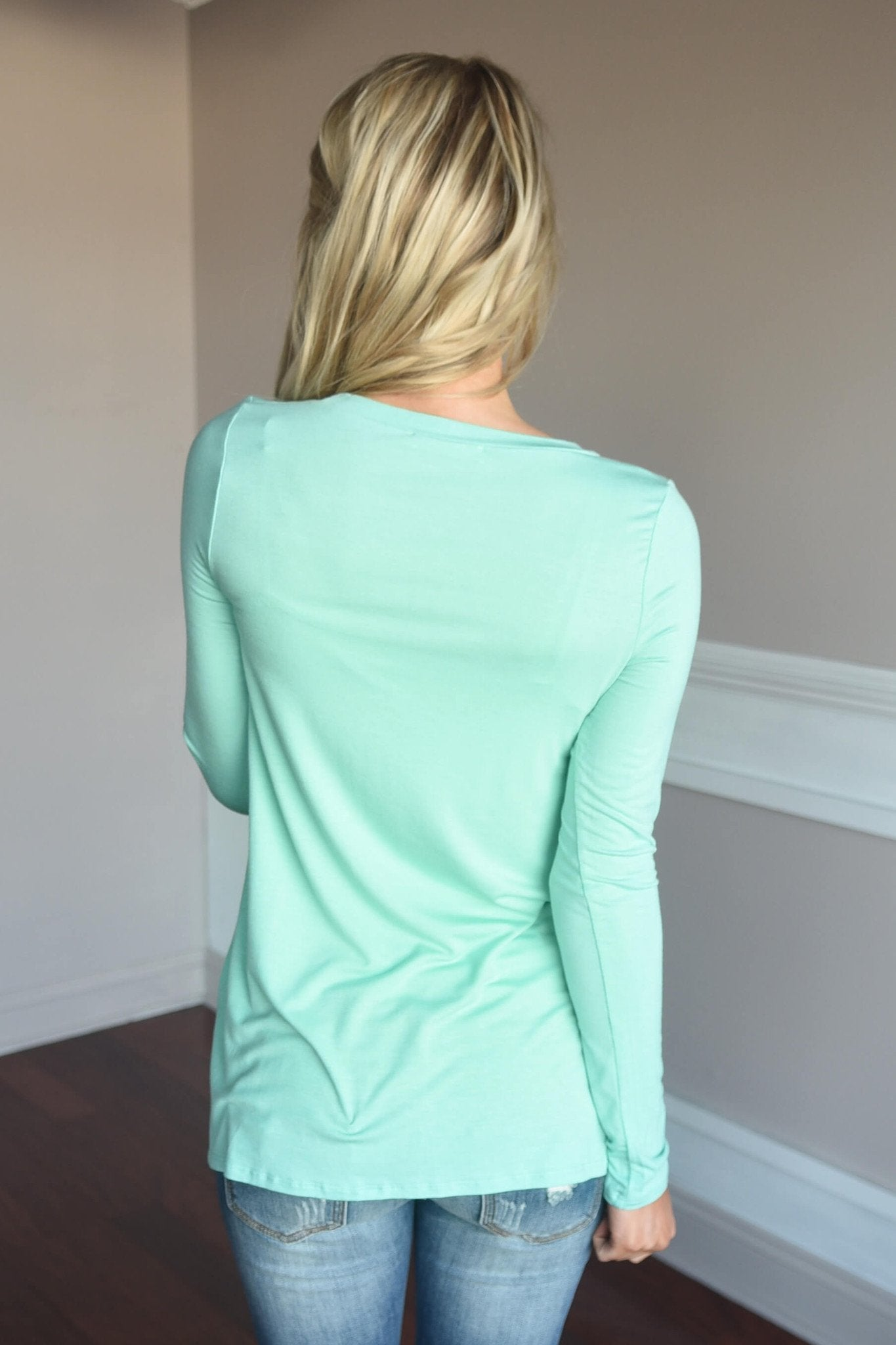 Push My Buttons Top ~ Mint