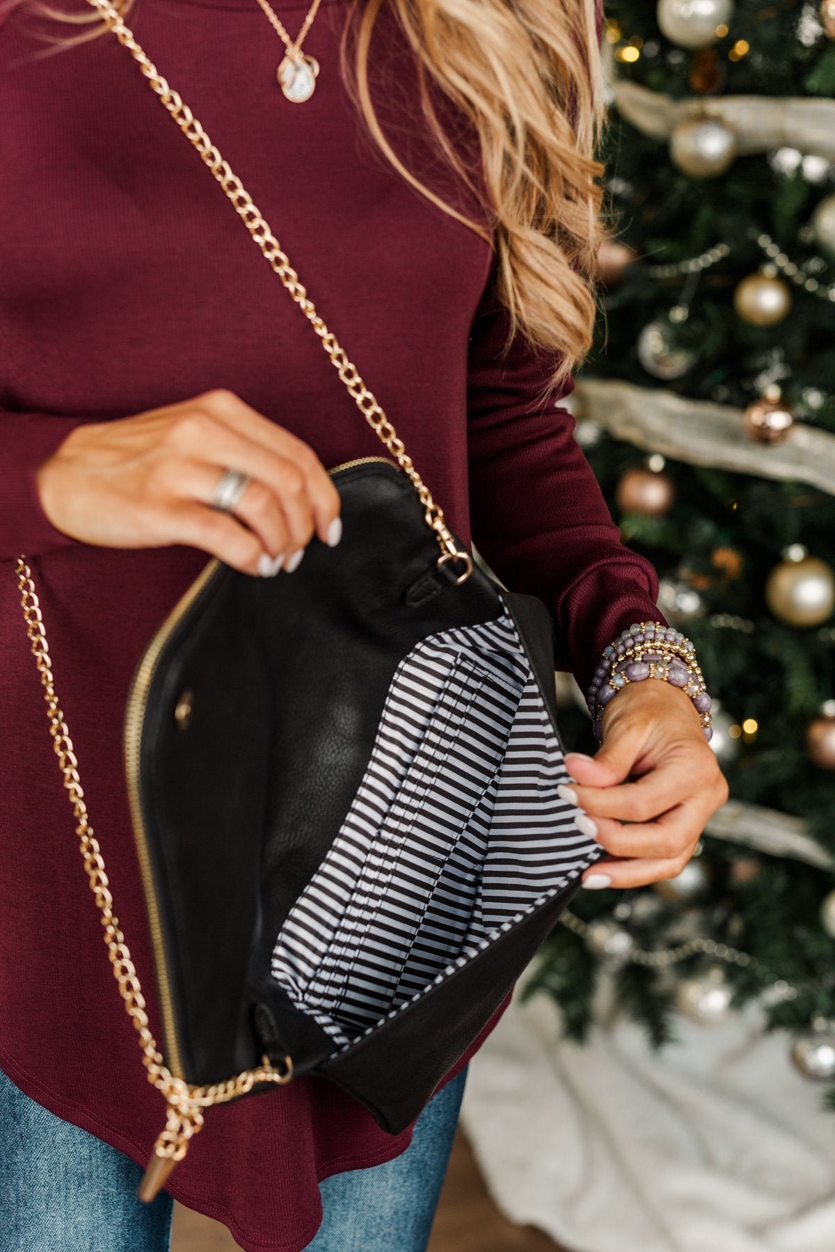 Darling Day to Day Oversized Clutch- Black