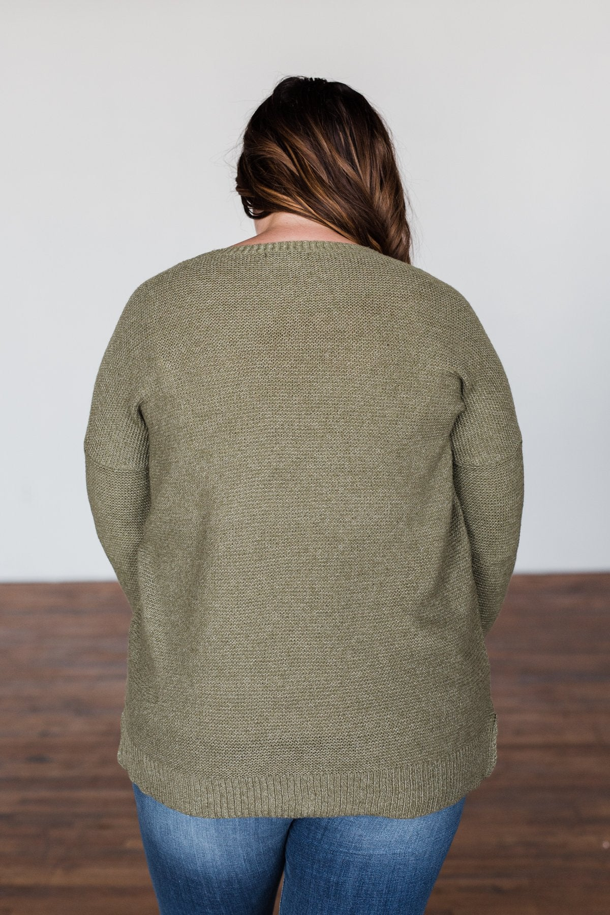 Reaching Out To You Knit Sweater- Olive