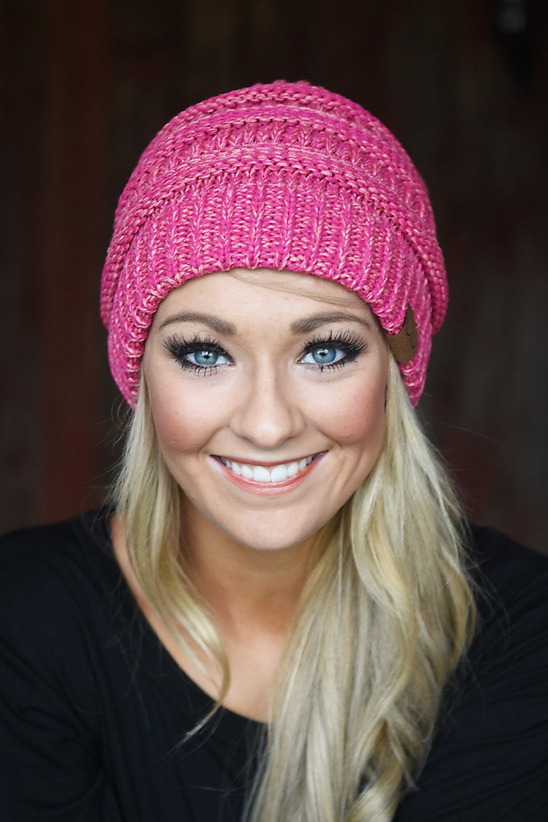 Pink Speckled Beanie
